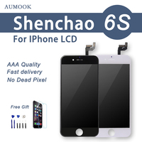 ShenChao AAA LCD Display For iPhone 6S lcd Digitizer Touch Glass Screen Assembly with Cold Press Frame Free Shipping Free Gift