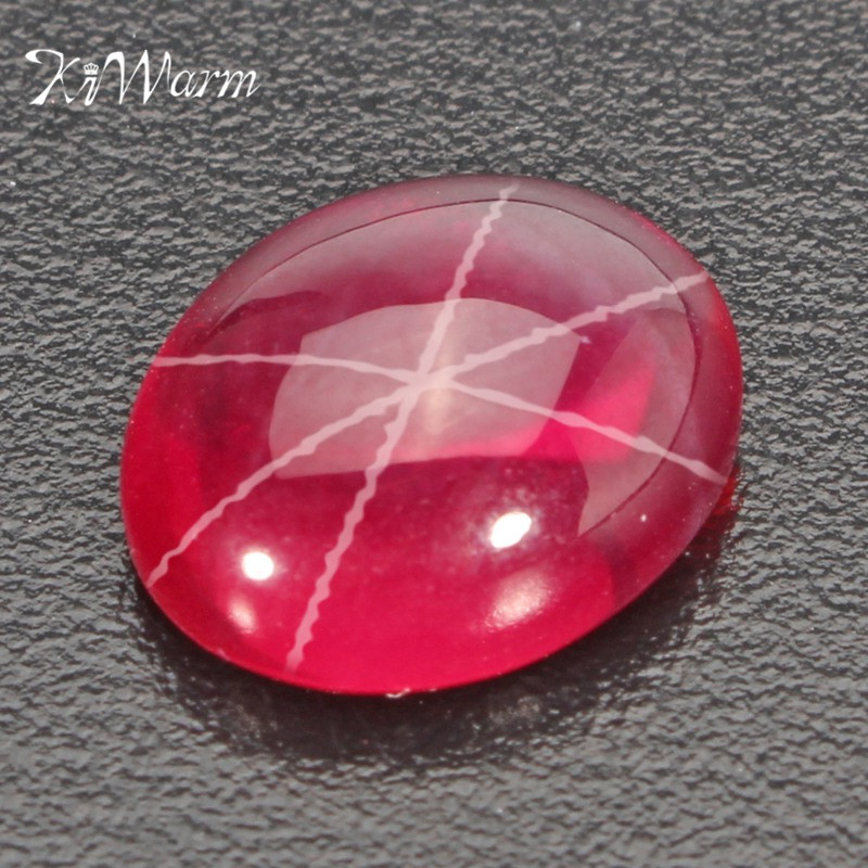 Natural Good Quality Ring Size Red Ruby Oval Cabochon Loose Gemstone
