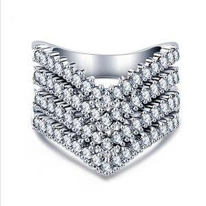 Лето 2020 Новинка 3A кольцо из циркона изысканное и элегантное ювелирное изделие подлинные кристаллы от Swarovskis женское кольцо