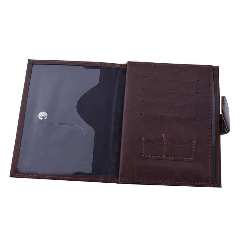 3 in 1 Passport Covers Organizer Automobile Driver License Documents Case PU leather Passport Card Holder Porte Carte Bancaire