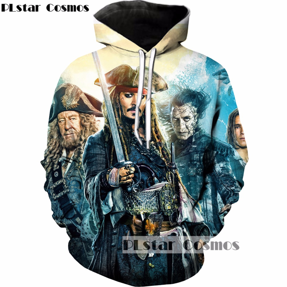 PLstar Cosmos 2018 New Fashion Hoodies Men women Sweatshirt movie Pirates of the Caribbean Print 3d Pullovers Hipster Outerwear