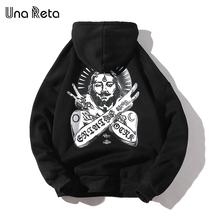 Una Reta Streetwear ชาย Hoodies ฤดูใบไม้ร่วงใหม่พิมพ์พลัสขนาดผ้าฝ้าย Pullover Tracksuit Hip   Hop ผู้ชาย/ผู้หญิง Hoodie