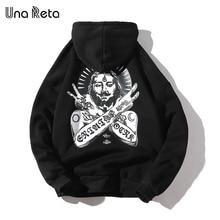 Una Reta Streetwear Men Hoodies New Autumn Print Sweatshirt Plus Size Cotton Pullover Tracksuit Hip-Hop Men/Women Hoodie