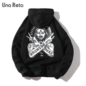 Image 1 - Una Reta Streetwear גברים נים חדש סתיו הדפסת סווטשירט בתוספת גודל כותנה בסוודרים אימונית היפ הופ גברים/נשים הסווטשרט