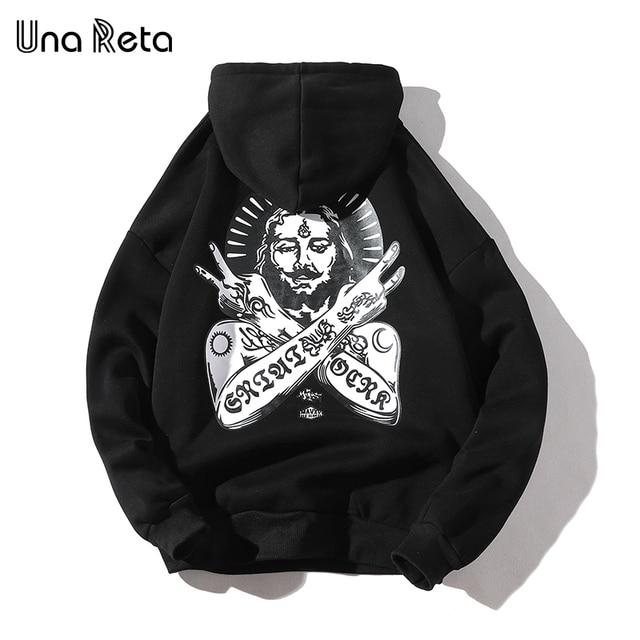 Una Reta Streetwear גברים נים חדש סתיו הדפסת סווטשירט בתוספת גודל כותנה בסוודרים אימונית היפ הופ גברים/נשים הסווטשרט
