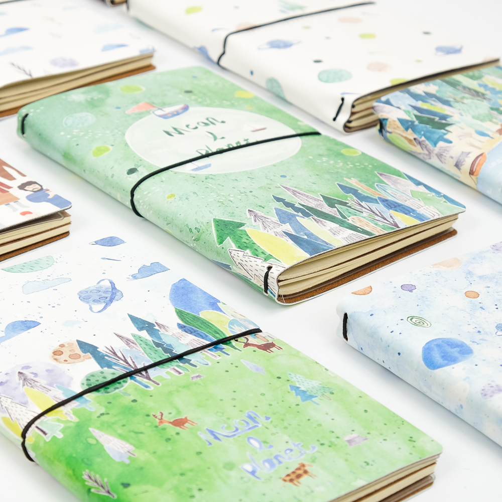 Special Offer YOOFUN Planet Travel Notebook A6 Korean Stationery Cute Notebook Japanese-style Hand-book Notesbook 1PCS