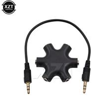 3.5 Jack 3.5 Mm 6 Đa Cổng HUB 3.5 AUX Bộ Chia Adapter Âm Thanh Cáp Chuyển Đổi Điện Thoại Tai Nghe MP3 phụ Kiện