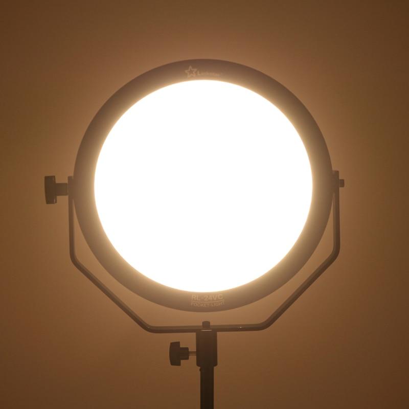 18W 5600K okrogla ultra tanka dnevna svetloba LED foto video snemanje - Kamera in foto - Fotografija 4