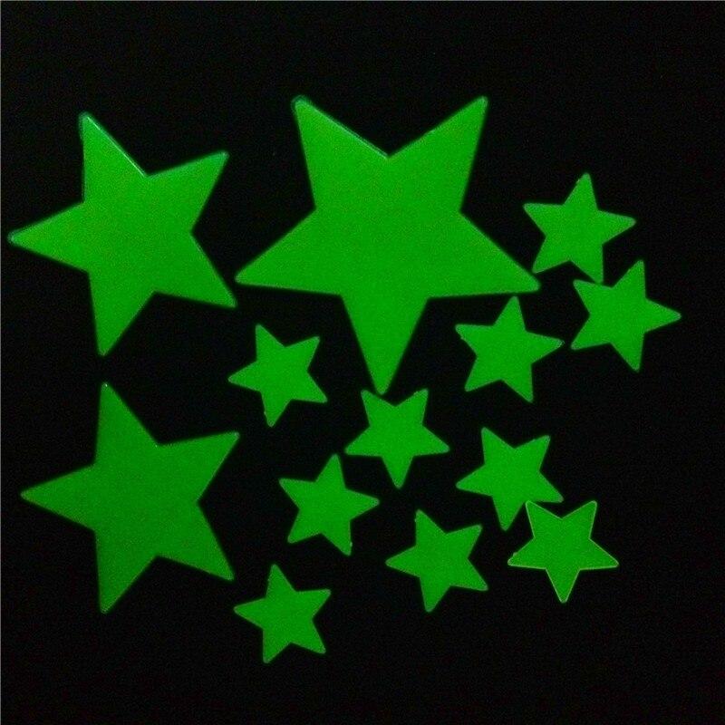 Venta caliente Varios Increíble Brillan en la noche Luminosa de Dibujos Animados Estrella de la Luna Nursery Baby Room Tatuajes de Pared Pegatinas Decoración Casera para Habitaciones de Los Niños
