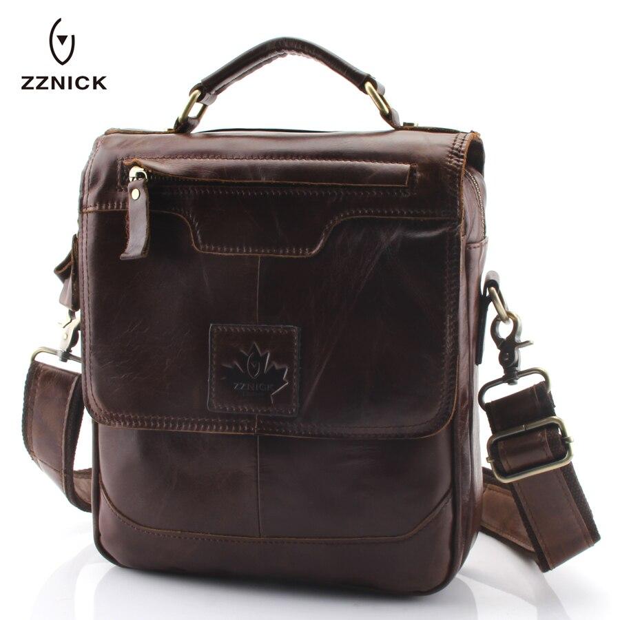ZZNICK hommes 100% véritable sac à bandoulière en cuir de vache sac à bandoulière hommes Messenger sac Vintage en cuir homme sac d'affaires porte-documents sac à main