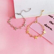 O envio gratuito de moda senhoras jóias padrão de estrela bracelete personalizado campus vento menina bons amigos acessórios atacado