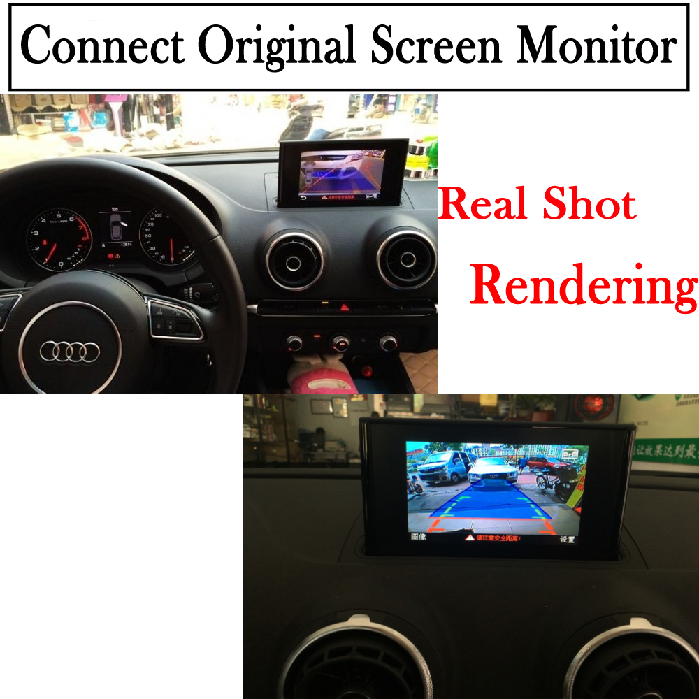 Reversing Camera For Audi A3 8v 2011~2018 Interface Adapter Backup Parking  Rear view Camera Connect Original Screen MMI Decoder