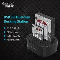 ORICO USB 3 0 To SATA Dual Bay Hard Drive Docking Station For 2 5 3