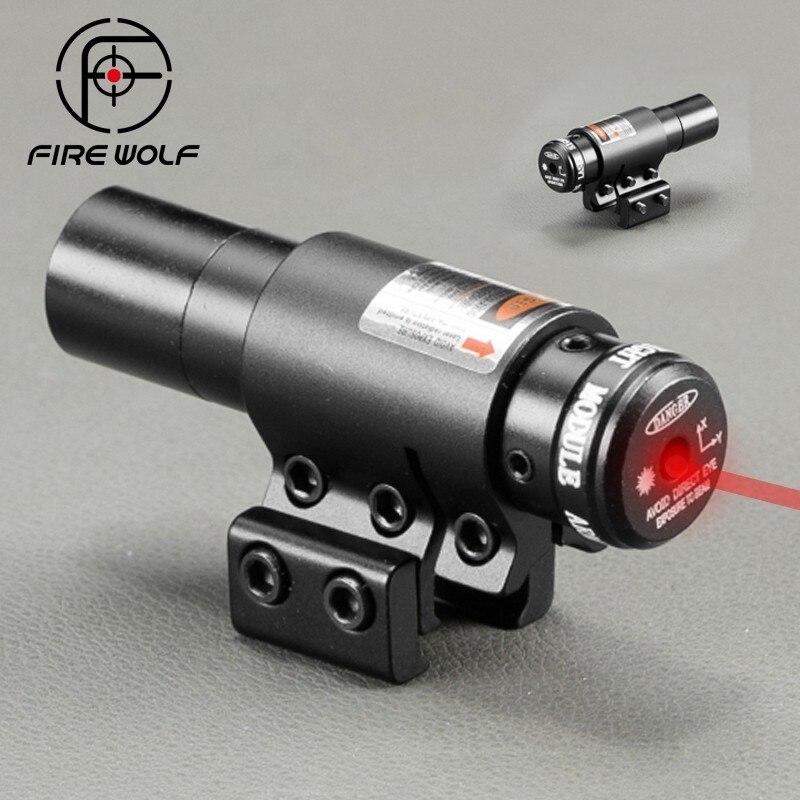 Portée de visée Laser à point rouge tactique pour fusil à Air comprimé tisserand réglable 11/20mm Picatinny Rails de montage pour Airsoft