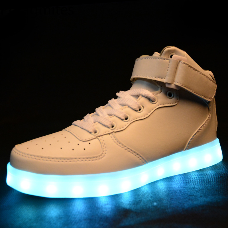 Phragmites Couple Lover Lamp Shoes Male Led Sneakers Size 34-46 Flats Mens Shoes Pu High Quality Loafers To Help Digest Greasy Food Shoes