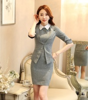 Spring Summer Ladies Dress Suits For Women Business Suits Formal Office Suits Work Wear Jacket Sets