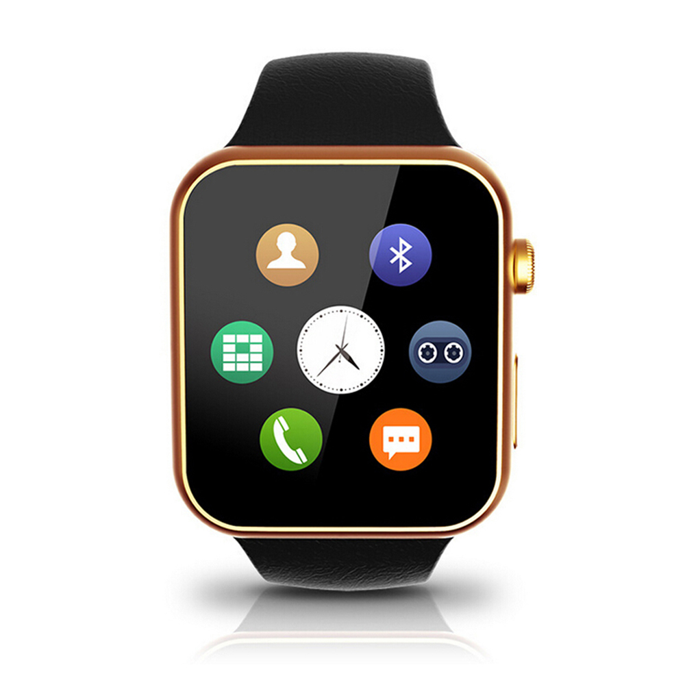 Original Leather Band Bluetooth Smart Watch Fitness Tracker Smartwatch Call Reminder Heart Rate Monitor for Android iPhone Sony zaoyiexport bluetooth f69 smart watch ip68 fitness tracker heart rate monitor smartwatch for iphone xiaomi android pk gt08 dz09
