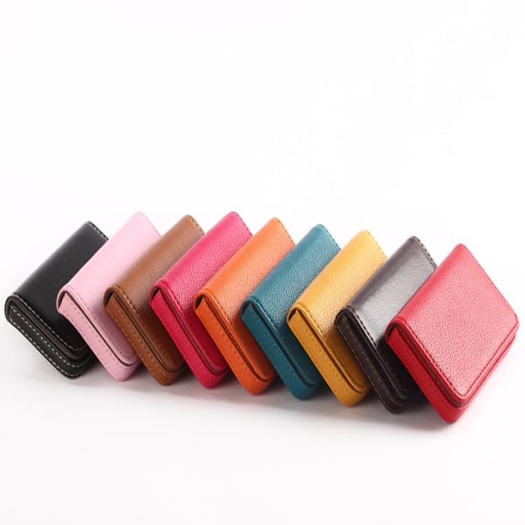 Magnétique mode affaires porte carte de crédit cuir porte-carte pu aluminium homme de marque portefeuille femmes hommes cartes de visite