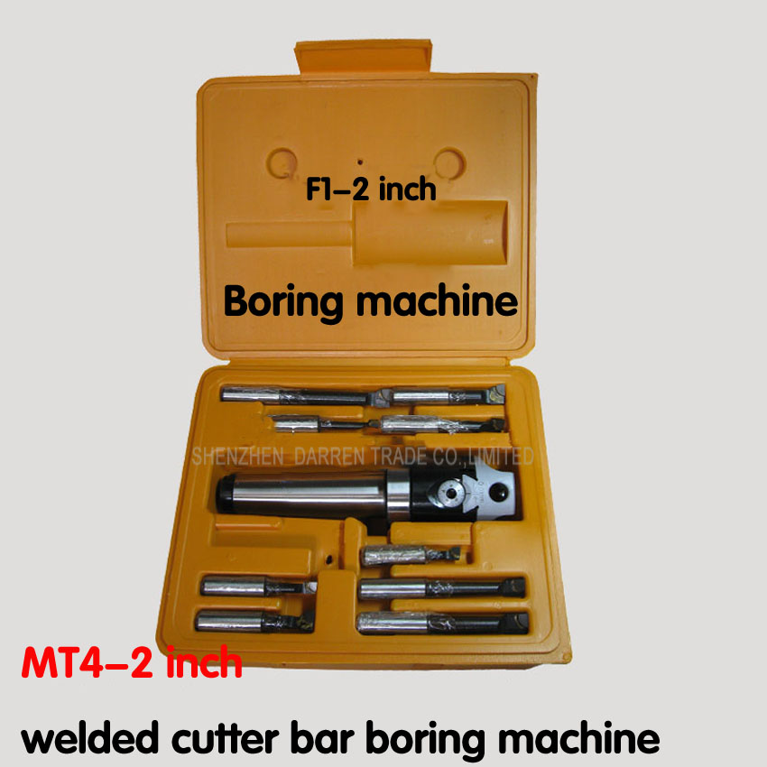 Best quality MT4 taper, F1-12 50mm boring head with MT4 shank and 9pcs 12mm boring bars, boring head set best quality 1kg 50