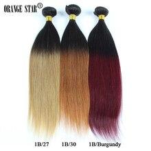 4 Bundles Ombre Brazilian Virgin Hair Straight Two Tone Ombre Brazilian Hair Extensions Human Hair Weave Tissage Straight MS411