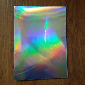 Image 3 - 30 แผ่น A4 กาวธรรมดาโฮโลแกรม PP ฟิล์มสติกเกอร์ป้ายพิมพ์โลโก้ 210 มิลลิเมตร x 290 มิลลิเมตรฟิล์มเลเซอร์