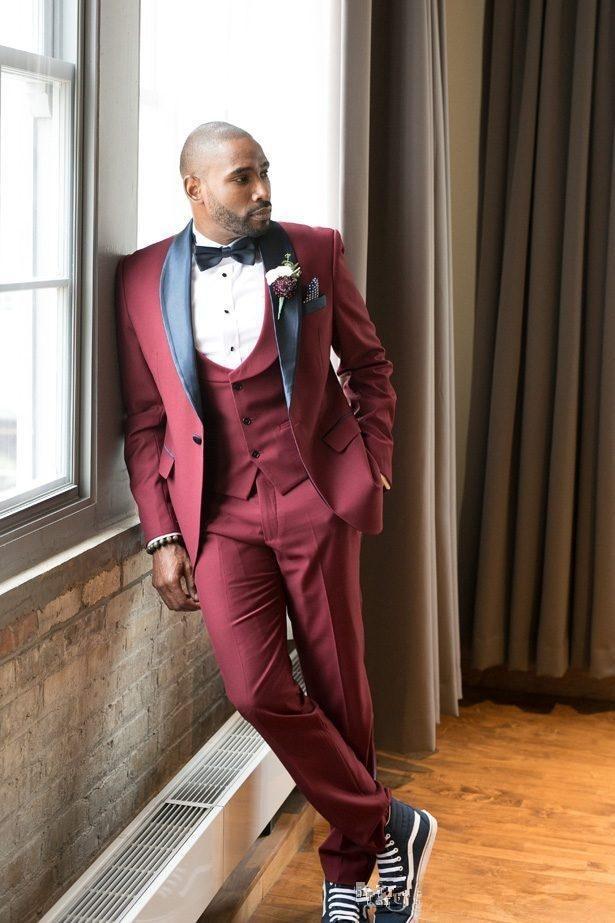 men s business casual suits sets male three piece suit vest Blazers pants jacket coat trousers