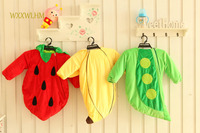 80cm Pea&Strawberry&Banana Plush Baby Toys Baby Photographed Clothes Autumn New Baby Spring Outfit Newborn Onesies Plush Doll