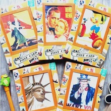 32pcs/pack Of Retro Postcards For Each Pack Funny Students Gift Office School Stationery Supply