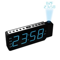 Projector Digital Alarm Clock LED Electronic Projection Clock FM Radio Snooze Timer Temperature Display Radio Table Clocks