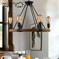 Дизайнерский Лофт в североевропейском стиле ретро кофейная сельская Холла бар железная веревка люстра лампа
