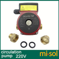 220v Brass Circulation Pump 3 Speed For Solar Water Heater Or For Hot Water Heating System