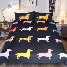 Cute Colorful Puppy Duvet Cover