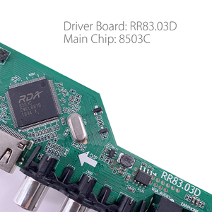 Image 3 - 5 Built in games RR83.03D Universal LCD TV Controller Driver Board TV/AV/PC/HDMI/USB Media Russian language set logo v56