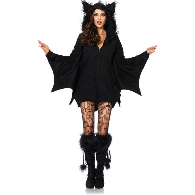 Vampire Costume Sexy Halloween Costume For Women Plus Size Angels Black Cat Cosplay Costume Vampire Bat