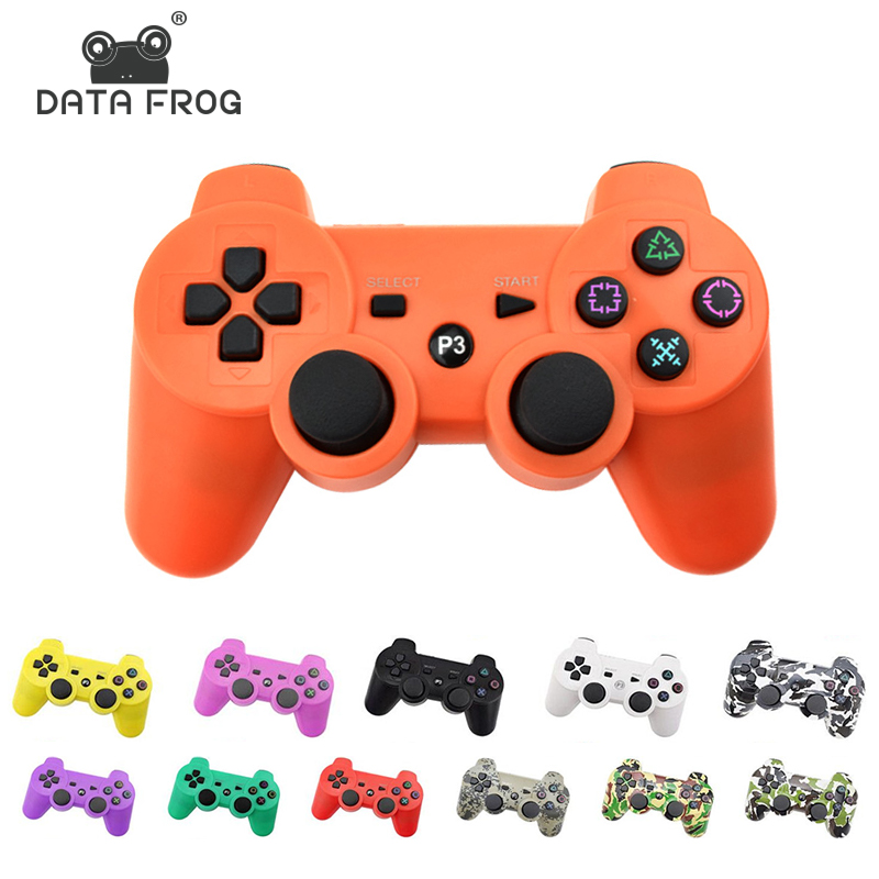 DATA FROG For Sony Playstation3 For PS3 Controller Wireless Bluetooth Gamepad Joystick For Mando PS3/ PC Gamepads Controle(China)