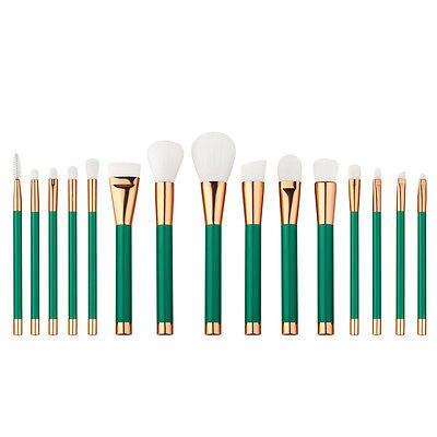 Зеленый 15 шт. Удивительный Макияж Кисти Профессиональная Косметика Make Up Brush Set ДЕ