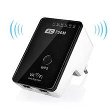 Оригинал Wi-Fi Маршрутизатор 750 Мбит Мини Маршрутизатор Беспроводной Wi-Fi Ретранслятор Двухдиапазонный 2.4/5 ГГц Wi-Fi Усилитель Сигнала ракета-носитель 802.11 ac/b/g/n