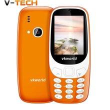 Оригинальный vkworld Z3310 3D Экран 2.4 дюймов мобильный телефон Громкий Динамик FM радио сильный свет 2MP Камера Dual SIM карты мобильного телефона