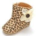 Moda Nuevo Estilo Zapatos de Bebé Recién Nacido Princesa Bebé de la Flor Botas Alto-top de Invierno Cálido Suela Casa Primer Caminante Zapatos de bebé
