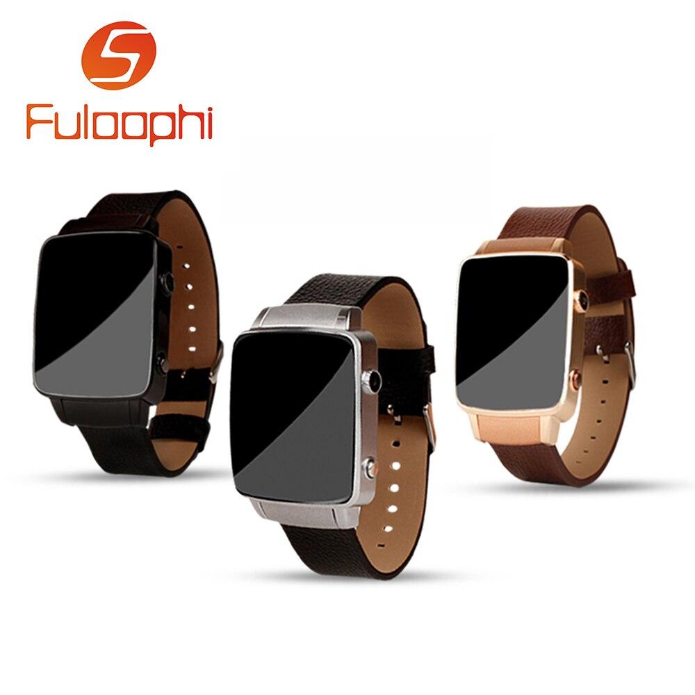 imágenes para X6S Cuero Genuino Correa MTK2502 Bluetooth Smartwatch Podómetro Tarjeta SIM Reloj Inteligente con Cámara Para Android IOS