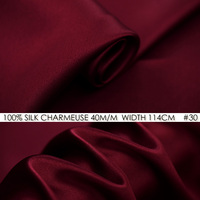 SILK CHARMEUSE SATIN 114cm Width 40momme 100 Pure Silk Fabric Meter Heavy Silk 172g M2 Men