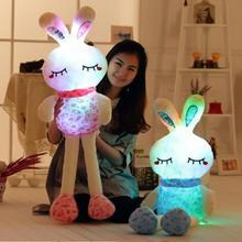 1pc 70cm Super Lovely Luminious Rabbit Plush Toy Staffed Rabbit Gleamy Doll Colorful Flashing Pillow Valentine's Day Gift