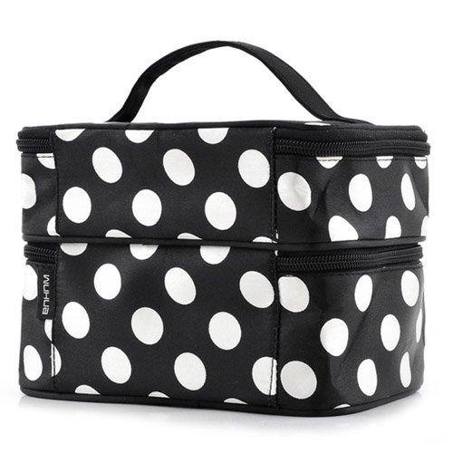 buy new arrival large capacity cosmetic make up organizer bag dot women handbag portable storage bags makeup bags travel from reliable make