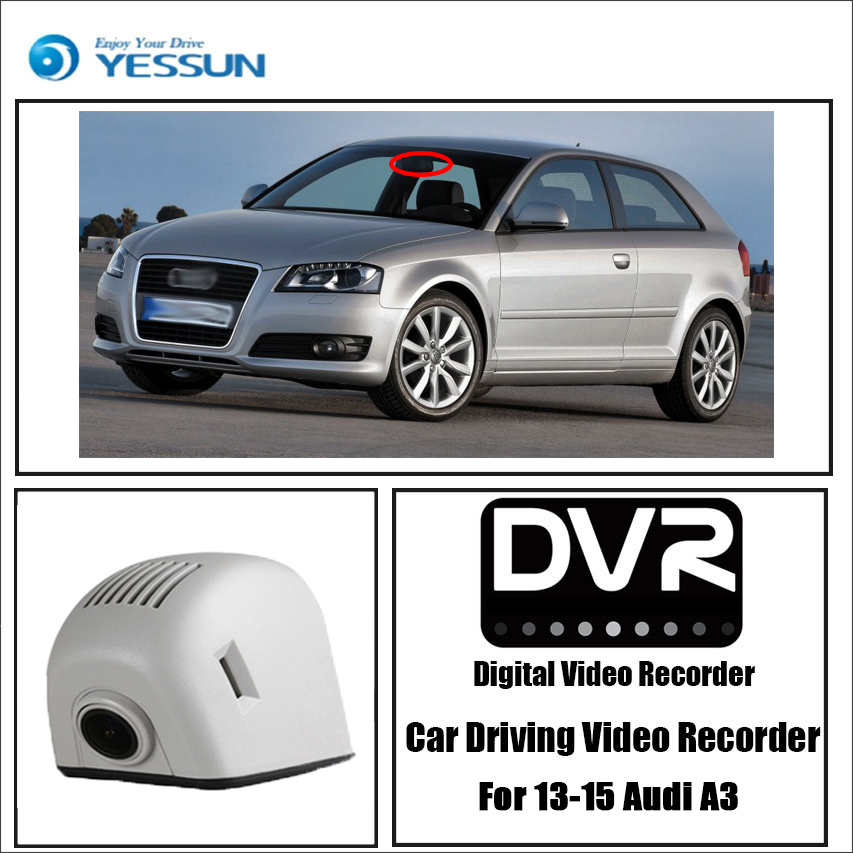YESSUN Car Wifi Mini DVR Driving Video Recorder Dash Cam for Audi A3/A4/A4L/A6/A6L/A7/A8/Q3/Q5 2013~2015 Novatek 96658