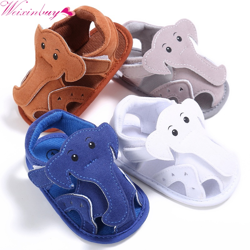 New Trendy Baby Infant Kids Girl Boys Soft Sole Crib Elephant Sandals Toddler Newborn Children Shoes 2017