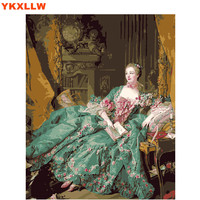 The Countess Beautiful Lady Pictures DIY Digital Painting By Numbers Wall Art Drawing Picture By Numbers