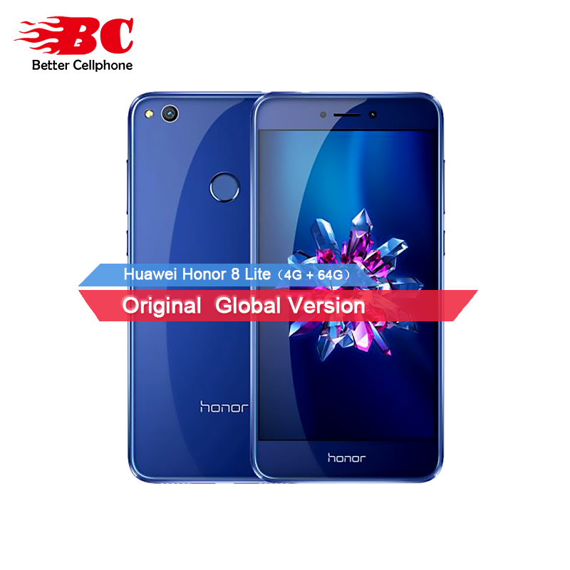 Original Huawei Honor 8 Lite 4GB RAM 64GB ROM Mobile Phone 5.2 Inch HD 3000mAh 12.0MP Camera 1080P Kirin 655 Octa Core OTA GPS