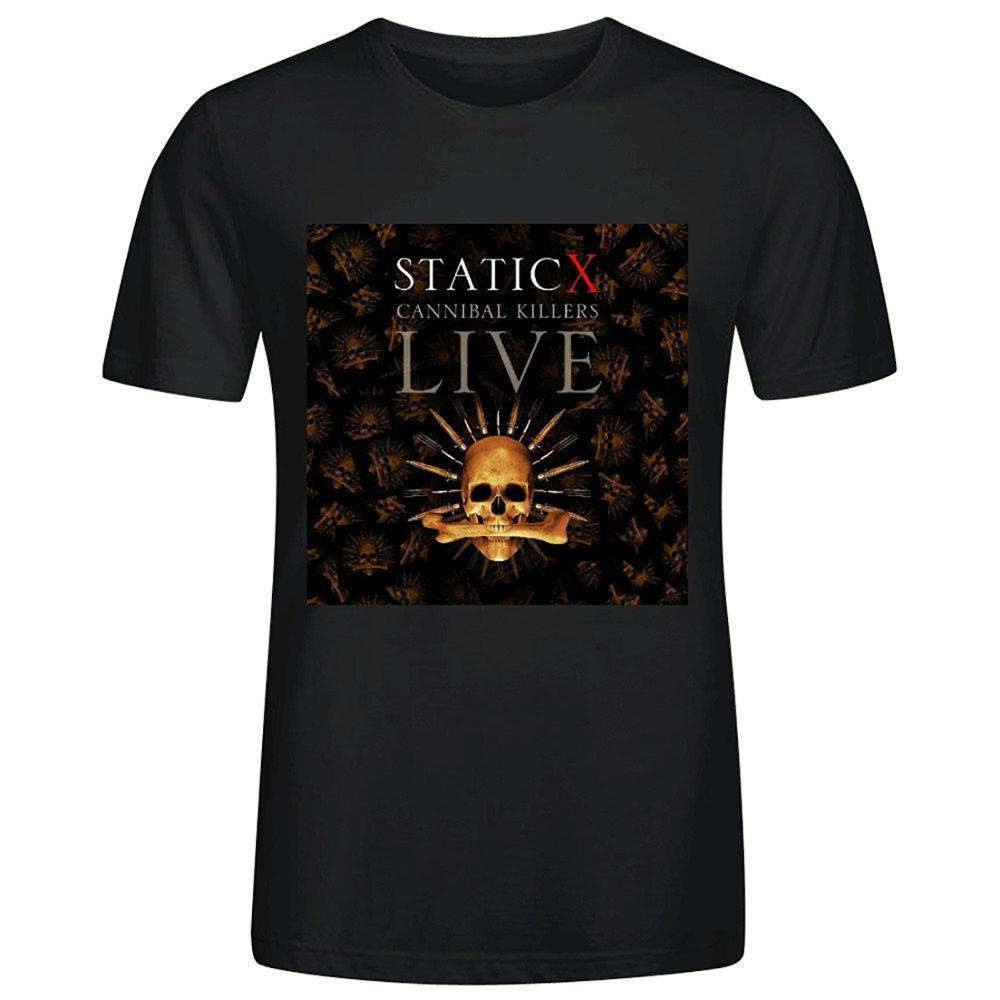 Statische x cannibal killers live T-shirts Für Männer