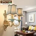Qiseyuncai 2018 Новый американский стиль прикроватная лампа для спальни простой креативный атмосферный керамический фон для гостиной настенные л...