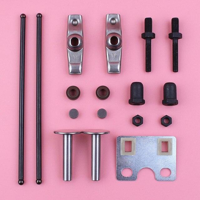 Valve Push Rod Guide Plate Rocker Arm Lifter Stem Seal Kit For Honda GX390 13HP GX 390 Engine Spare Part